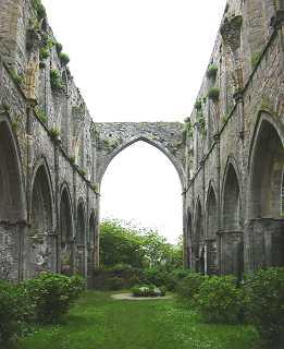 squelette de la nef de l'abbaye de Beauport